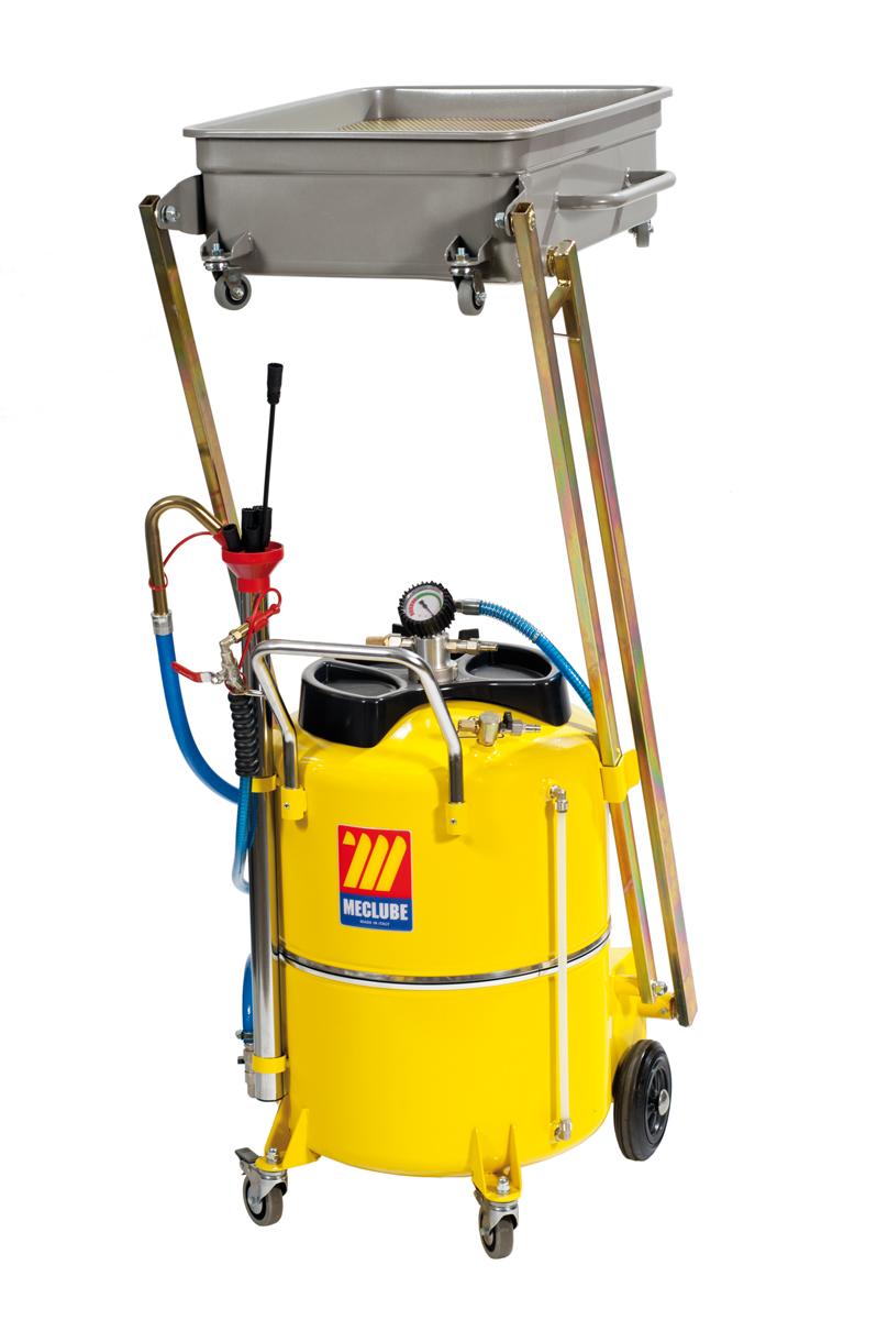 Ölabsaug- und Ablassgerät mit Auslegewanne 120 l